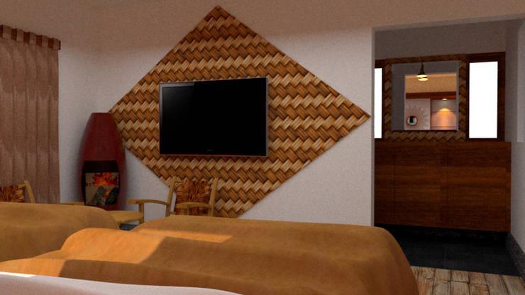 Diseño Interior – Hospedaje:  de estilo  por DIS.OLIVER QUIJANO