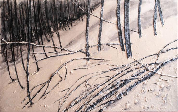 paisajes negros III:  de estilo  de bealux, Mediterráneo Algodón Rojo