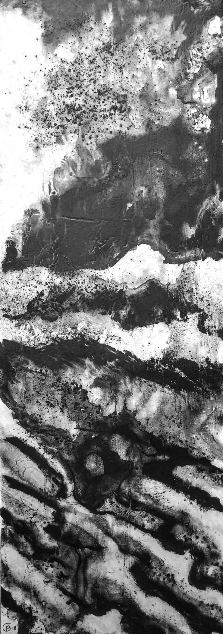 paisajes negros VI:  de estilo  de bealux, Moderno Algodón Rojo