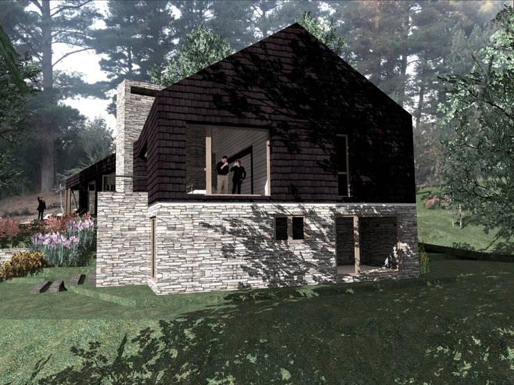 VISTA LATERAL : Casas de estilo  por KOMMER ARQUITECTOS