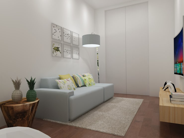 Alojamento Local Porto: Sala de estar  por Angelourenzzo - Interior Design
