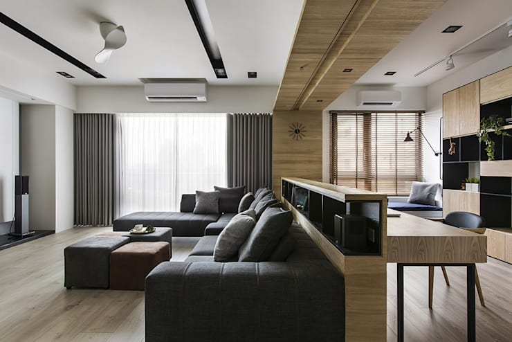 Salones de estilo  de 詩賦室內設計, Escandinavo