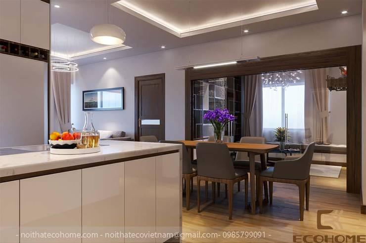 Không gian bếp và bàn ăn:  Phòng ăn by Công Ty TNHH Xây Dựng & Nội Thất ECO Việt Nam
