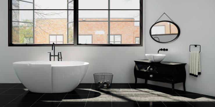 Ванные комнаты в . Автор – ZICCO GmbH - Waschbecken und Badewannen in Blankenfelde-Mahlow