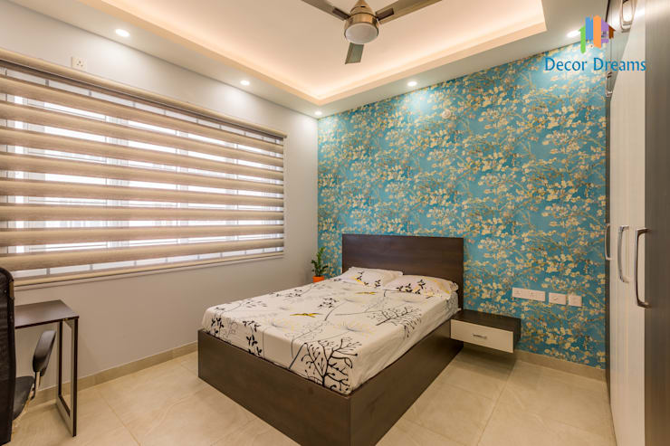 Vaishnavi Terraces, 3 BHK - Ms. Supriya:  Bedroom by DECOR DREAMS
