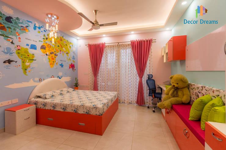 Vaishnavi Terraces, 3 BHK - Ms. Supriya: modern Nursery/kid's room by DECOR DREAMS