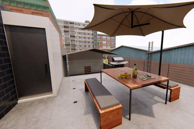 Vista Terraza: Oficinas y tiendas de estilo  por eleganty