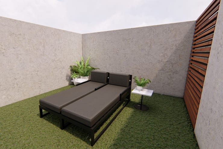Vista roof garden: Oficinas y tiendas de estilo  por eleganty