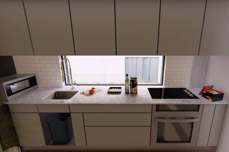 Vista cocinas: Oficinas y tiendas de estilo  por eleganty