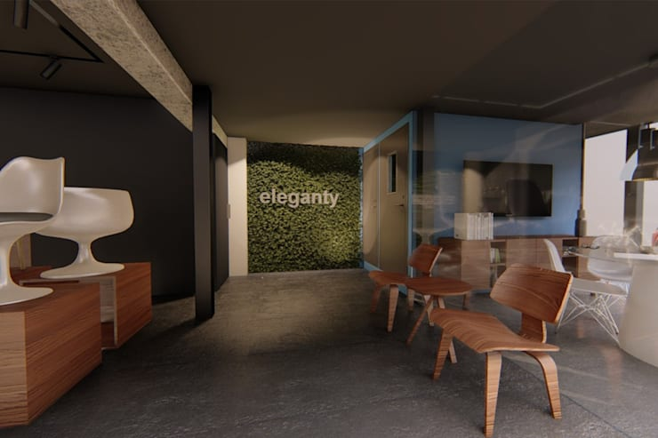 Vista vestíbulo: Espacios comerciales de estilo  por eleganty