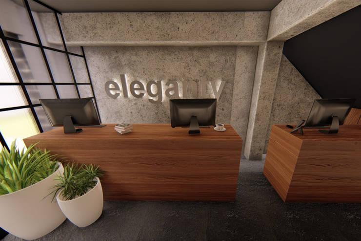 Vista pool de trabajo: Oficinas y tiendas de estilo  por eleganty