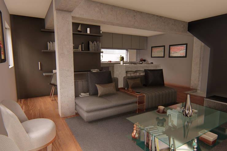 Vista sala: Oficinas y tiendas de estilo  por eleganty