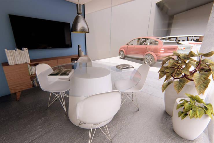 Vista sala de juntas: Salones de conferencias de estilo  por eleganty