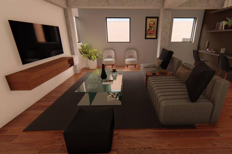Vista Sala: Edificios de Oficinas de estilo  por eleganty