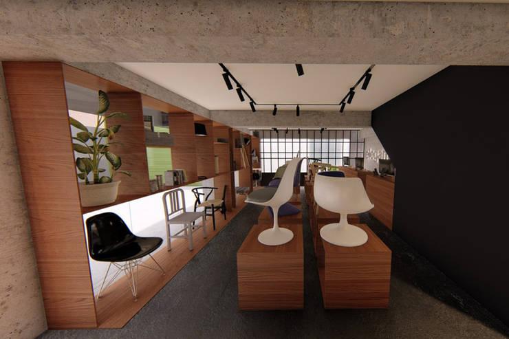 Vista Showroom: Espacios comerciales de estilo  por eleganty