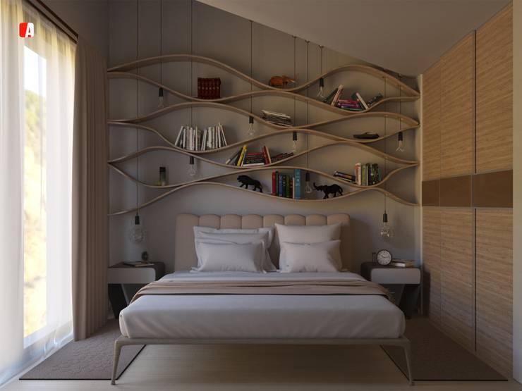 #03 - Tre Sotto un Tetto: Camera da letto in stile in stile Moderno di Il Migliore Architetto