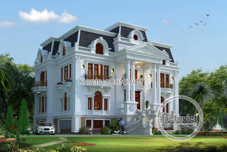 Phối cảnh thiết kế lâu đài dinh thự 3 tầng Tân cổ điển (CĐT: Ông Tiến - Thái Nguyên) Kt18064:   by Công Ty CP Kiến Trúc và Xây Dựng Betaviet