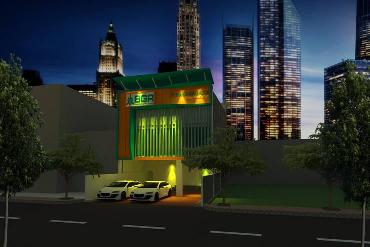 Night View:  Gedung perkantoran by GRADASI ARCHITECTURE STUDIO