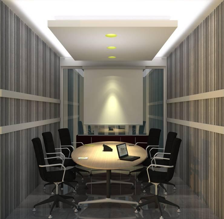 Meeting Room:  Gedung perkantoran by GRADASI ARCHITECTURE STUDIO