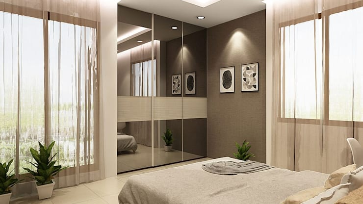 BEDROOM: modern Bedroom by K Square Architects