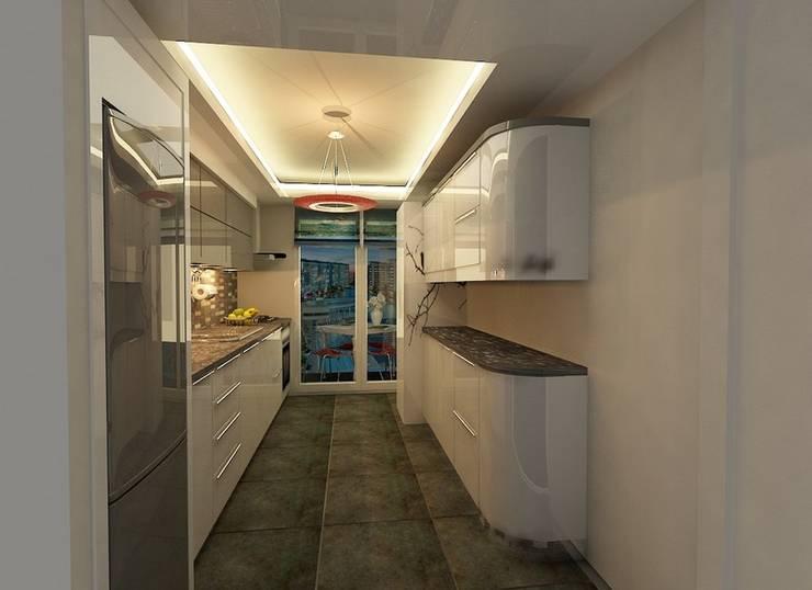 benna iç mimarlık – Sinpaş AQUA CİTY iç tasarımı 6: tarz Mutfak üniteleri