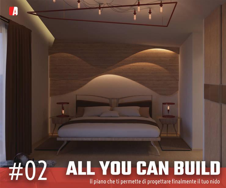#02 - All you can Build: Camera da letto in stile  di Il Migliore Architetto, Moderno