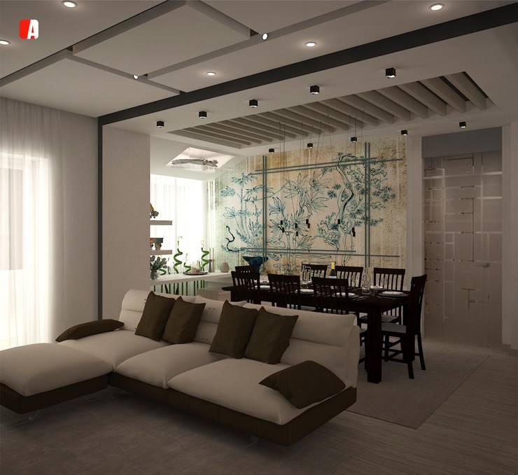 #02 – All you can Build: Soggiorno in stile  di Il Migliore Architetto, Moderno