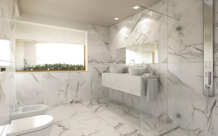 Torneiras com design da Water Evolution: Casas de banho  por Padimat Design+Technic