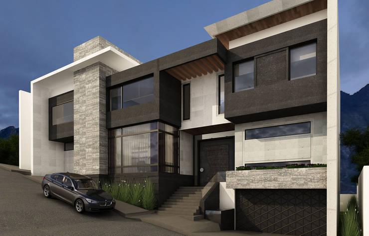 Casas en desnivel dise os y c mo construir una for Fachadas de casas modernas a desnivel