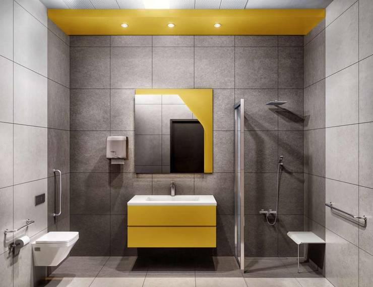 VERO CONCEPT MİMARLIK – Tınaztepe Galen Hastanesi - Tuvalet/Banyo:  tarz Hastaneler