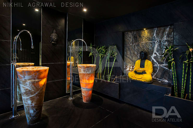 Entrance Foyer for the washroom : modern Bathroom by Design Atelier