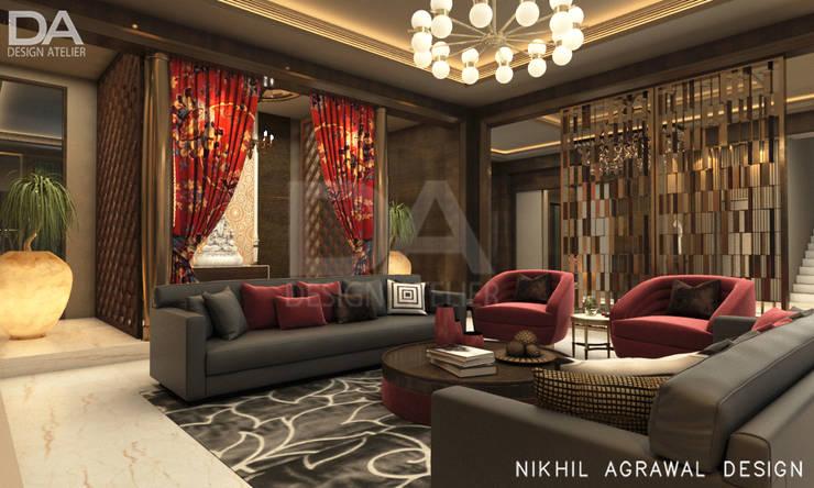Bungalow in Beawar(Rajasthan,IN)- Formal Drawing Room :  Living room by Design Atelier