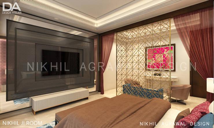 Bungalow in Beawar(Rajasthan,IN)- Luxury Master Bedroom :  Bedroom by Design Atelier