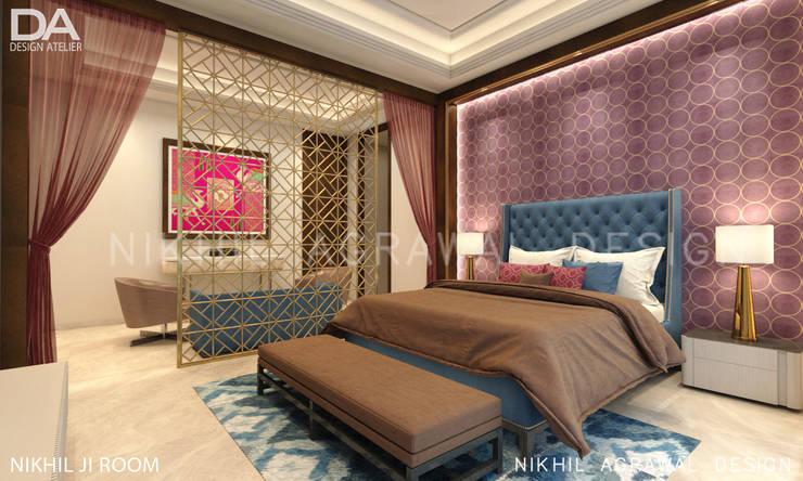 Bungalow in Beawar(Rajasthan,IN)- Luxury Master Bedroom:  Bedroom by Design Atelier
