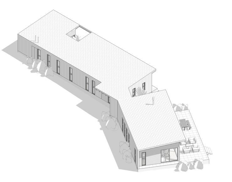 Cabaña en Santos del Mar:  de estilo  por AtelierStudio