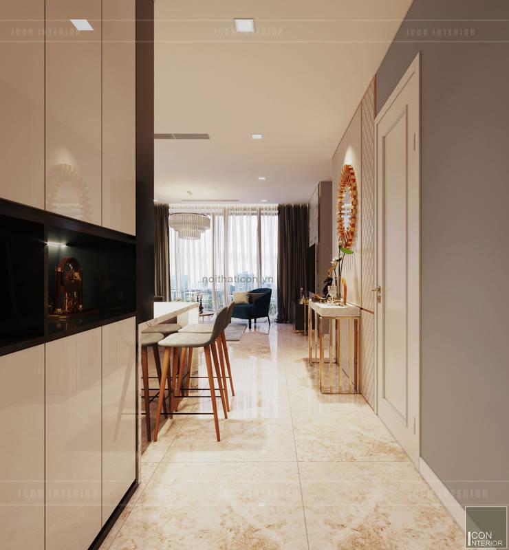 Sang trọng đẳng cấp với nội thất mạ Titan trong căn hộ Vinhomes Golden River:  Cửa ra vào by ICON INTERIOR