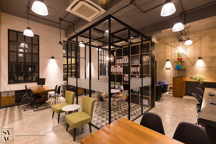 Work Space:  Commercial Spaces by SVAC  -  Suchi Vora Architecture Collaborative,Industrial