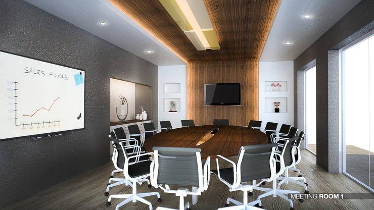 รูปตัวอย่างห้องประชุมใหญ่:  ห้องทำงานและสำนักงาน by สตูดิโอ เอส จำกัด
