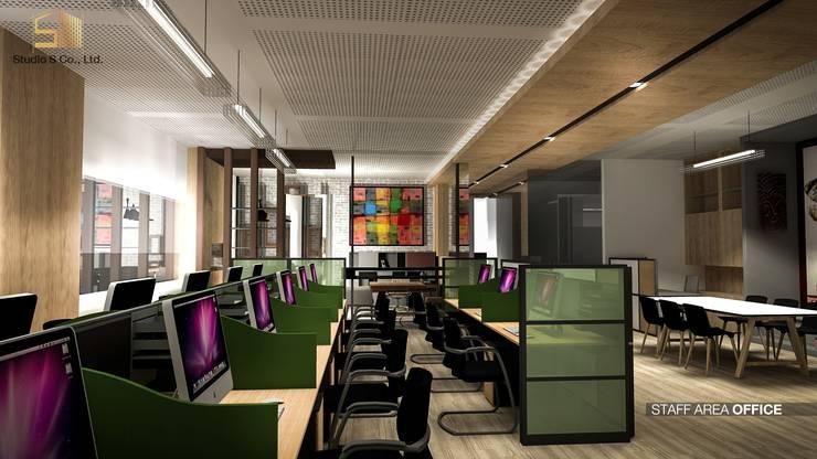 รูปตัวอย่างห้องทำงาน:  ห้องทำงานและสำนักงาน by สตูดิโอ เอส จำกัด