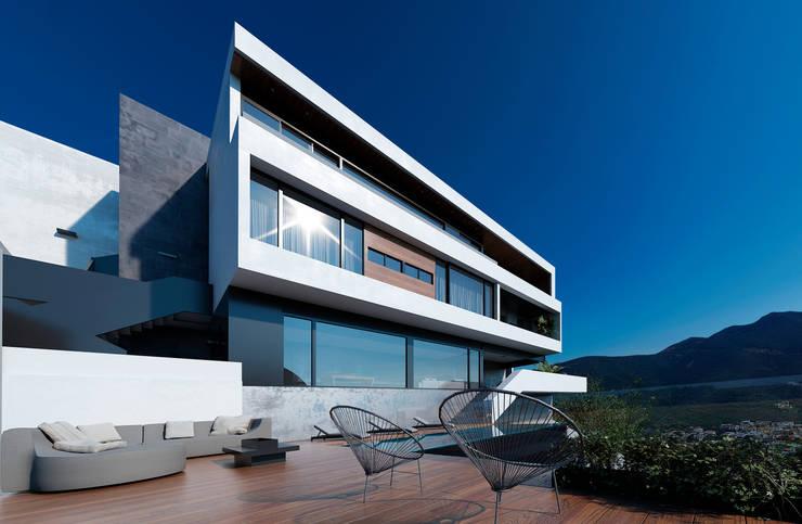 Fachada posterior: Casas de estilo  por Nova Arquitectura
