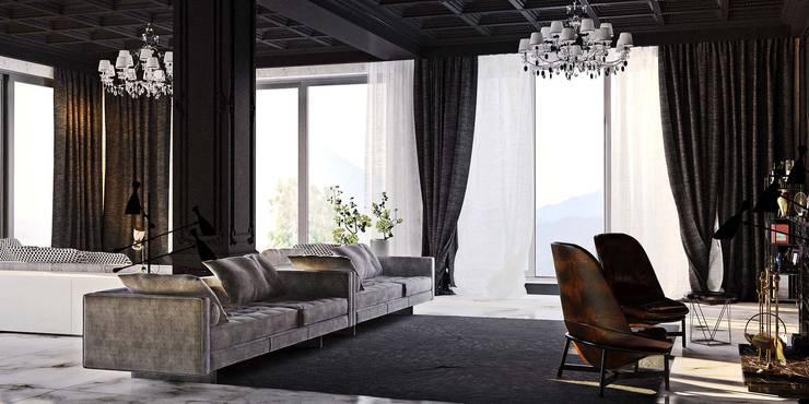 Гостиная в готическом стиле: Гостиная в . Автор – студия Design3F, Эклектичный