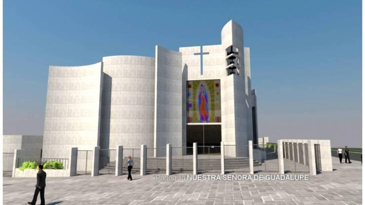 Capilla Nuesttra Señora de Guadalupe :  de estilo  por  Arquitectos Roman&Toledo