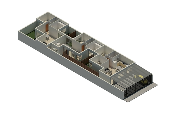 Proyecto de viviendas :  de estilo  por CG ARQUITECTA,