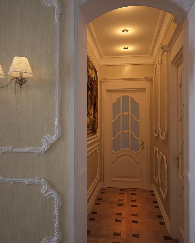 Интерьер коридора в классическом стиле: Коридор и прихожая в . Автор – студия Design3F, Классический
