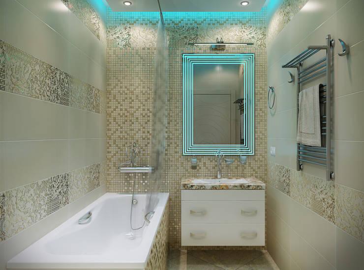 Дизайн ванной комнаты: Ванные комнаты в . Автор – студия Design3F