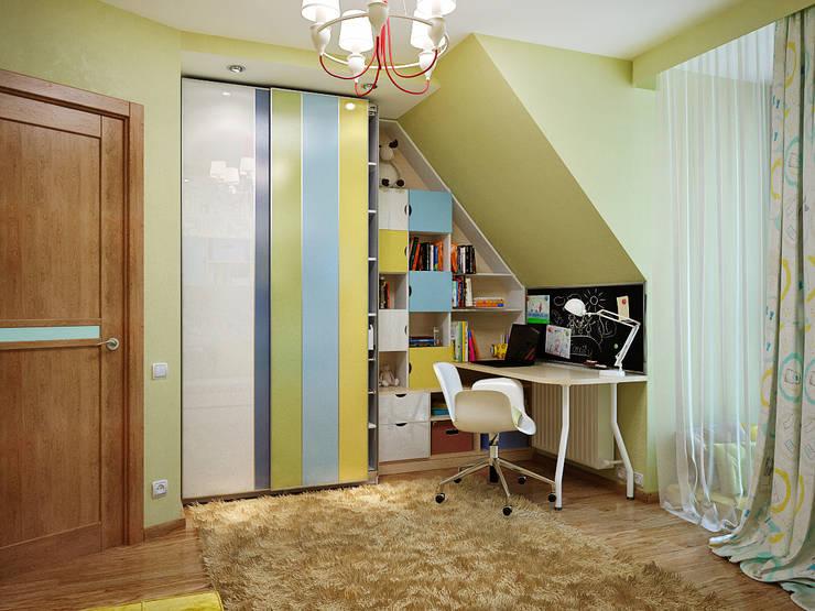 Комната для мальчика, зеленый цвет в оформлении: Детские комнаты в . Автор – студия Design3F, Эклектичный