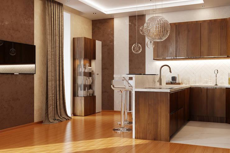 Minimalistische Küchen von студия Design3F Minimalistisch