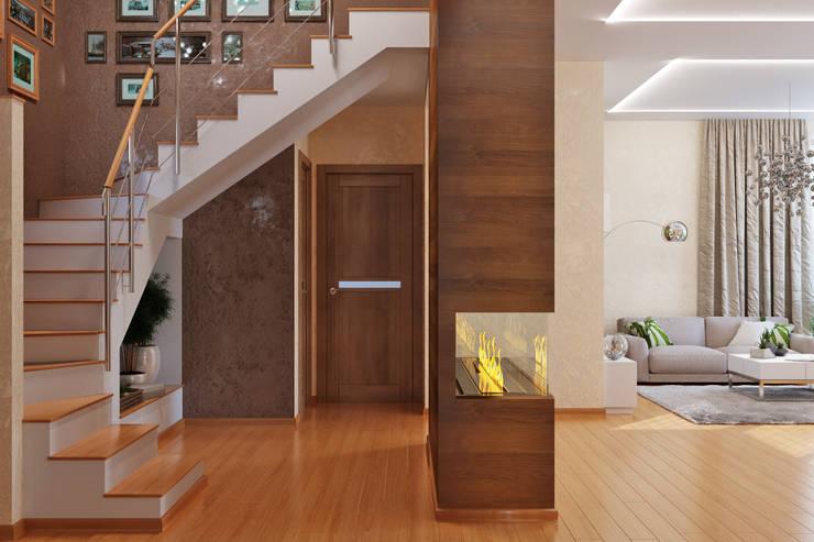 Minimalistische Wohnzimmer von студия Design3F Minimalistisch