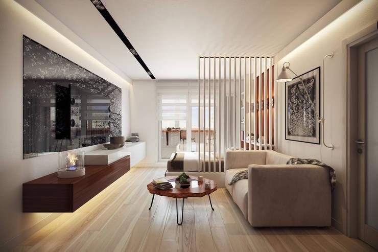 эко стиль в интерьере: Гостиная в . Автор – Interior&Decor Studio