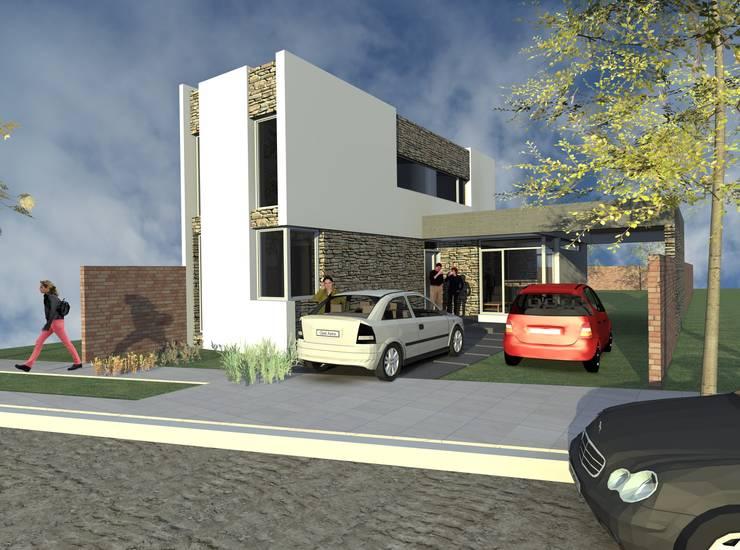 Segundo etapa de la obra - peatonal: Casas unifamiliares de estilo  por Arquitecto Pablo Briguglio